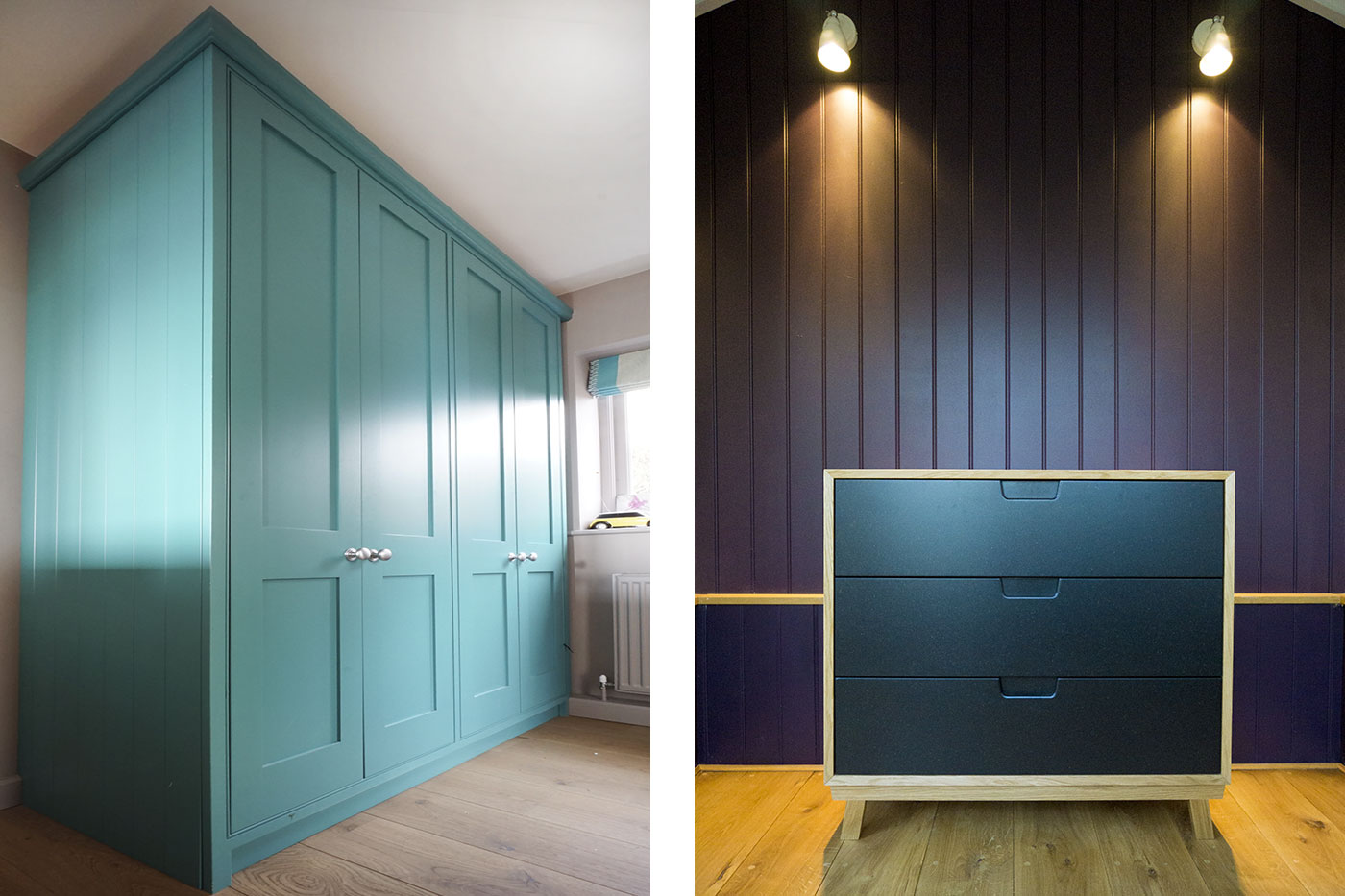 Modern wardrobe & chest of drawers